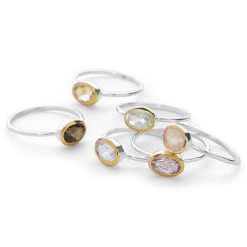 Eleganté Stack Rings (Set of 6)