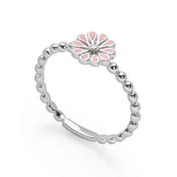 Pink Daisy Stack Ring