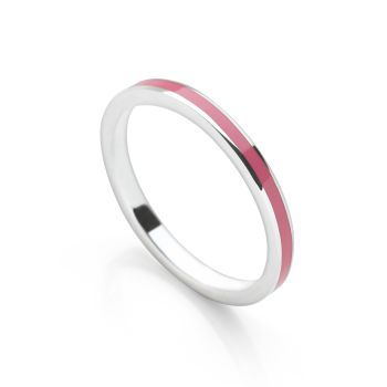 Fuchsia Pink Stack Ring