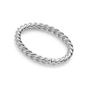 Silver Braid Ring