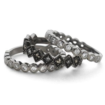 Night Jewels Ring (Set of 3)