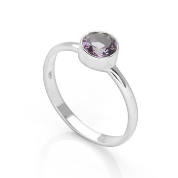 Amethyst Promise Ring