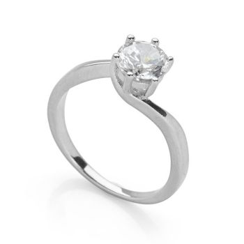 Palladium Sparkle Ring