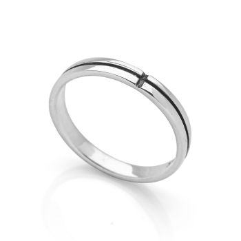 Silver Noir Ring