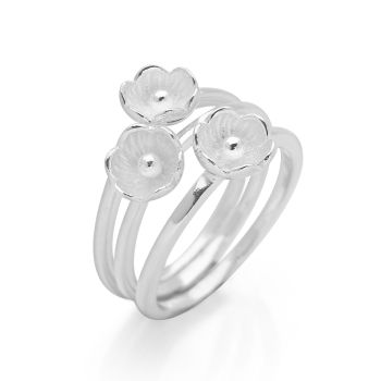 Moonlight Flora Rings (Set of 3)