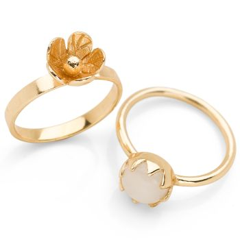 Kerala Ring (Set of 2) Gold Plate