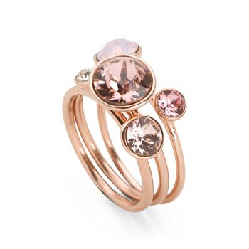Miami Sun Rings (Set of 3) Rose Gold Plate
