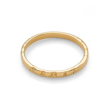 Personalised Hammered Ring Gold