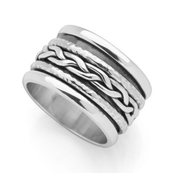 Woven Spin Ring (Silver)