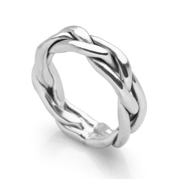 Silver Plait Ring
