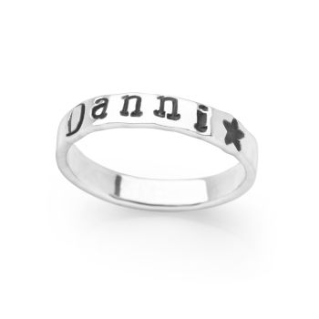 Personalised Type Ring