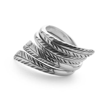 Feathered Wrap Ring