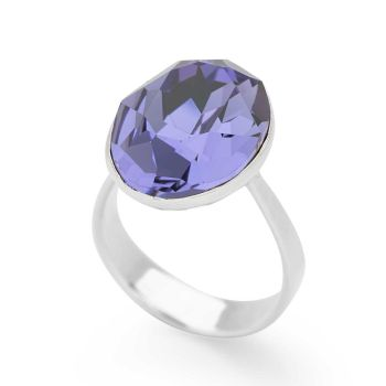 Tanzanite Crystal Ring