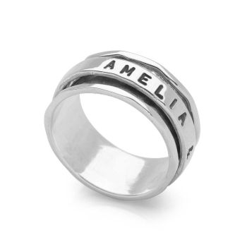 Personalised Spin Ring