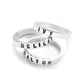Personalised Flat Band Ring