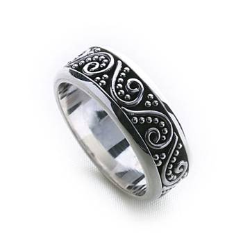 Bali Stack Ring (Thick)