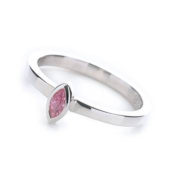 Le Stack Ring Marquise (Pink CZ)