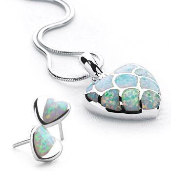 Opal Heart Set (P501 & E2476)