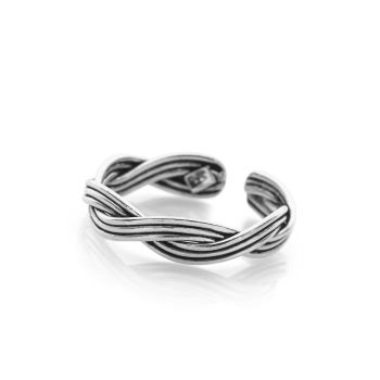 Rope Weave Toe Ring