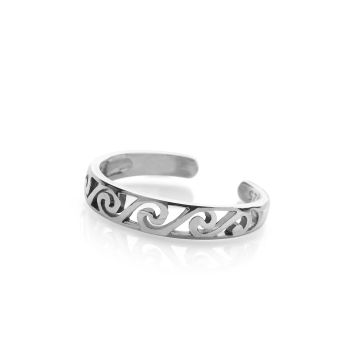 Ocean Waves Toe Ring