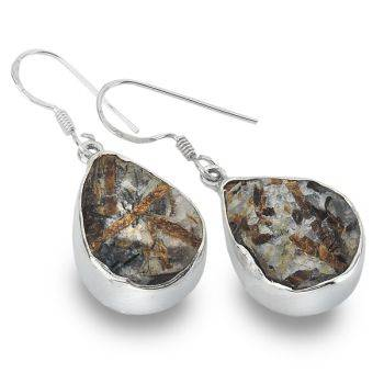 One of a Kind Astrophyllite Earrings