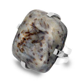 One of a Kind Astrophyllite Ring