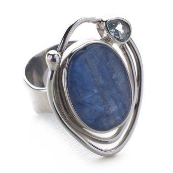 Eastern Essence Ring (Blue Topaz/Kyanite)
