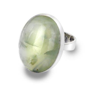 One of a Kind Prehnite Ring