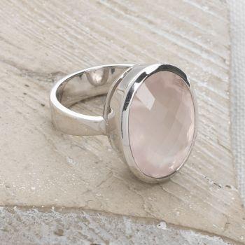 One of a Kind Rose Quartz Ring