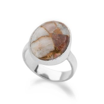 One of a Kind Copper Calcite Ring