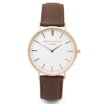 Mr Beaumont Brown Nappa Leather Watch