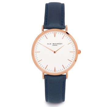 Elie Beaumont Oxford Large Navy Watch