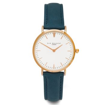 Elie Beaumont Oxford Small Grey Nappa Watch