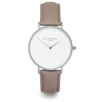 Elie Beaumont Hoxton Light Grey Nappa Watch