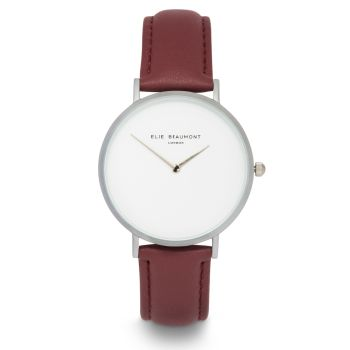 Elie Beaumont Hoxton Wine Nappa Watch