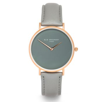 Elie Beaumont Hoxton Grey Nappa Watch