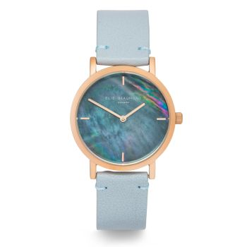 Elie Beaumont Kensington Duck Egg Nappa Watch