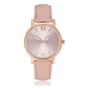 Elie Beaumont Kew Pink Nappa Watch