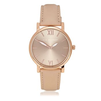 Elie Beaumont Kew Cream Nappa Leather Watch