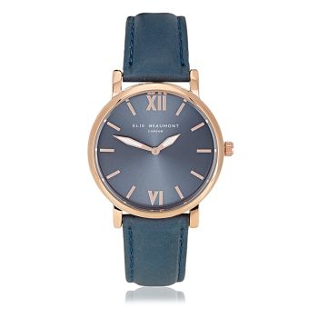 Elie Beaumont Kew Blue Nappa Leather Watch
