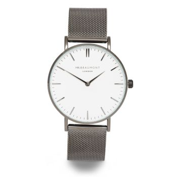 Mr Beaumont Black Mesh White Dial Watch