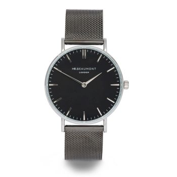 Mr Beaumont Black Mesh Black Dial Watch