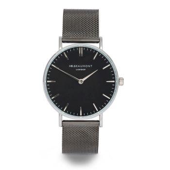 Mr Beaumont Black Mesh Black Dial Watch