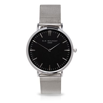 Elie Beaumont Oxford Large Silver Watch