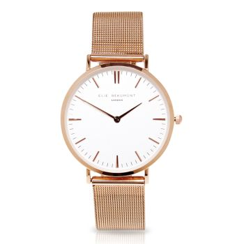 Elie Beaumont Oxford Large Rose Gold Watch
