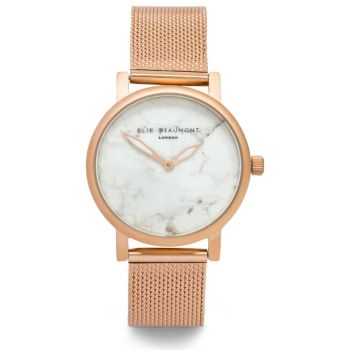 Elie Beaumont Carrara Rose Gold Mesh Watch