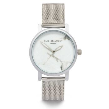 Elie Beaumont Carrara Silver Mesh Watch