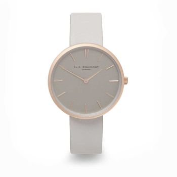 Elie Beaumont Hampstead Grey Leather Watch