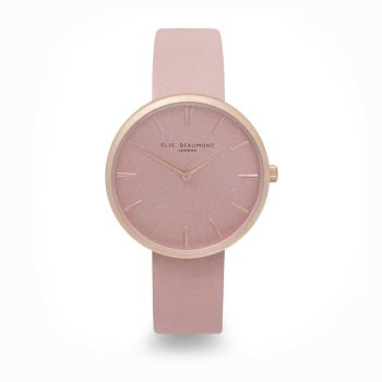 Elie Beaumont Hampstead Pink Leather Watch
