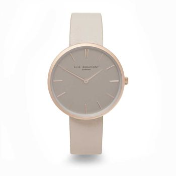 Elie Beaumont Hampstead Stone Leather Watch